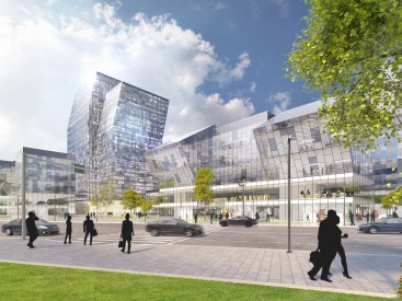 Eco-friendly energy production as the image of a new urban complex